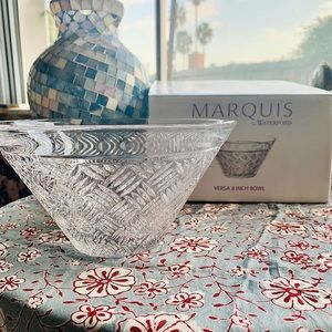 Marquis by Waterford VERSA 8IN Lead Crystal Bowl